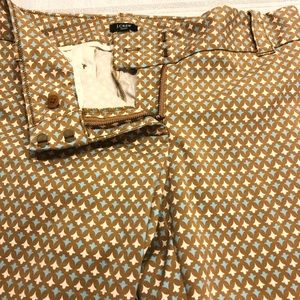 J. Crew  fleur-de-lis cropped stretch pants size 8